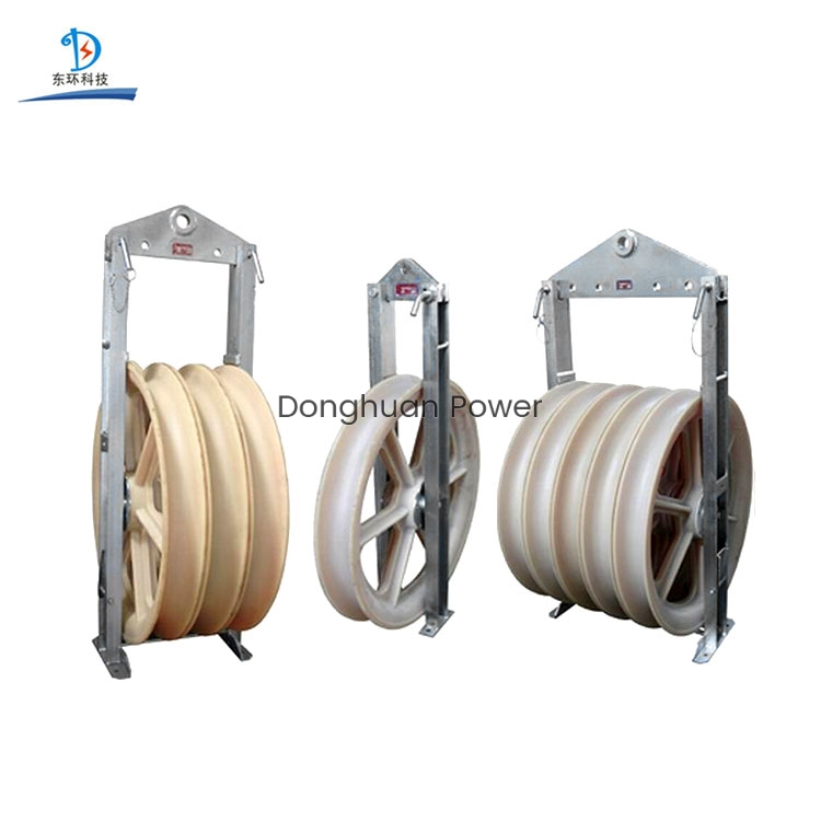 508mm Large Diameter Stringing Block Nylon Sheave Lifting Cable Pulley Electric Block For Conductors
