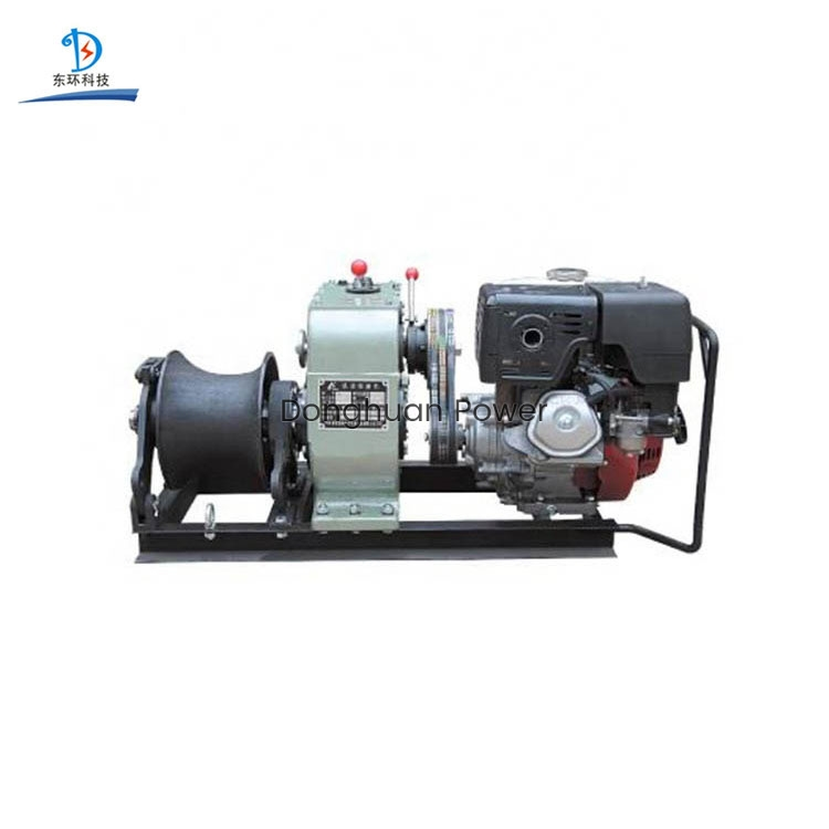50KN 3 Ton Belt drive Variable Speed Wire Rope traction Pulling Cable Electro motor Diesel Engine Gasoline Engine Power Winch