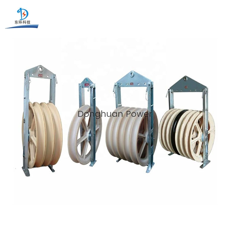 660mm Large Diameter Wheels Sheaves Bundled Wire Conductor Pulley Stringing Block
