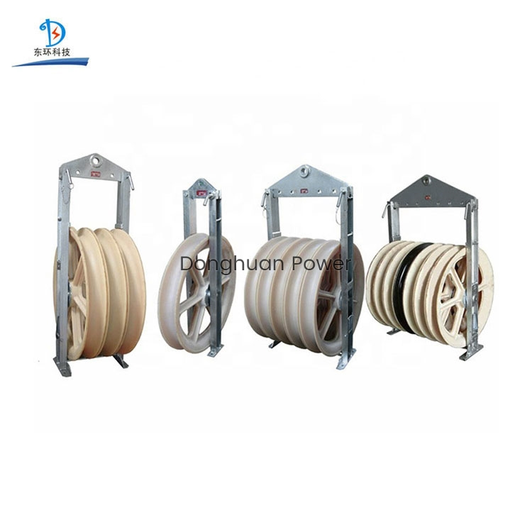 822mm Large Diameter Wheels Sheaves Bundled Wire Conductor Pulley Stringing Block