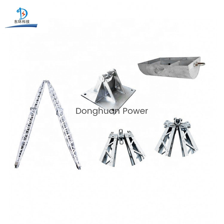 Aluminum Alloy A-shape Lattice Electric Gin Pole for Erection Power Tower Pole Erection Machine