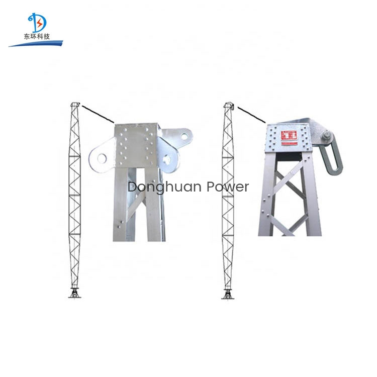Aluminum Alloy Electrical Gin Pole for Tower Eretion Concrete Electric Pole