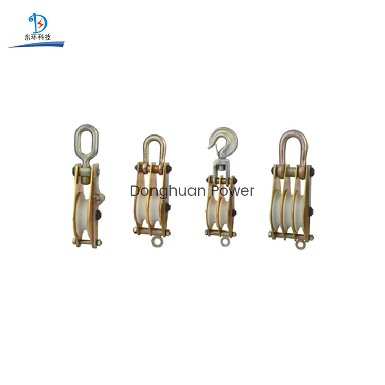 Aluminum Alloy Plated With Nylon Sheave Hoist Pulley Block and Tackle