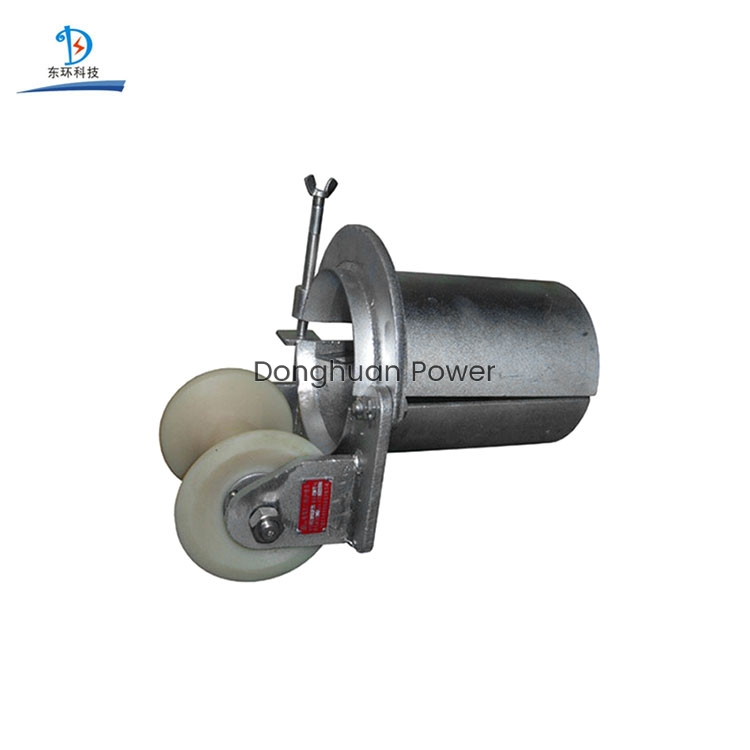Bell Mouth Type Cable drum Pulley Lockable Cable Pulling Rollers
