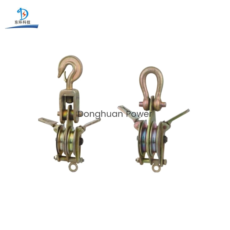 Both Side Opening With Dual-Sheave Stringing Block Equipment Aluminum Steel Hoisting Tackle