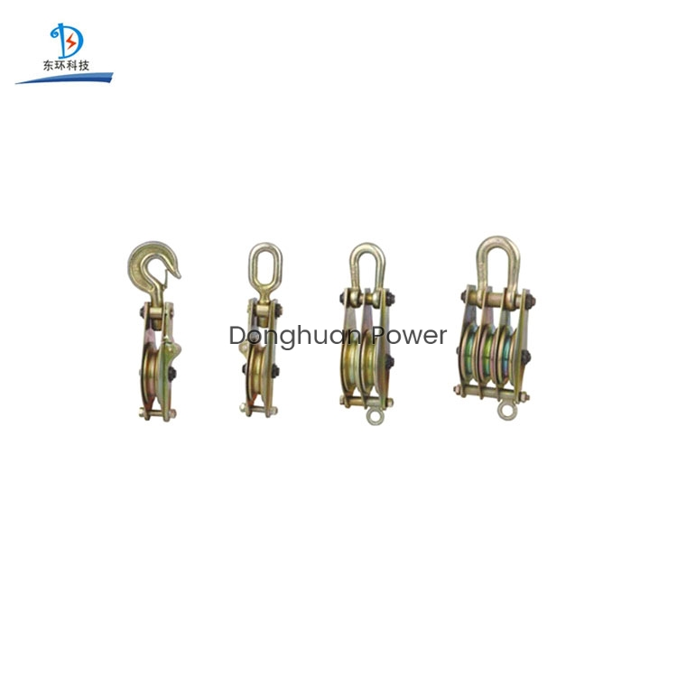 Cable Pulling Pulley Casting Steel Wheel Sheave Hook Type Hoisting Lifting Block For Construction Hoisting Tackle