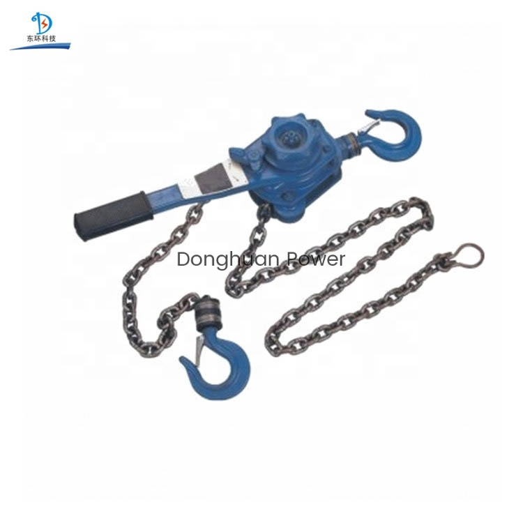 Chain Type Handle Hoist Tackle Block , Chain Pulley Block