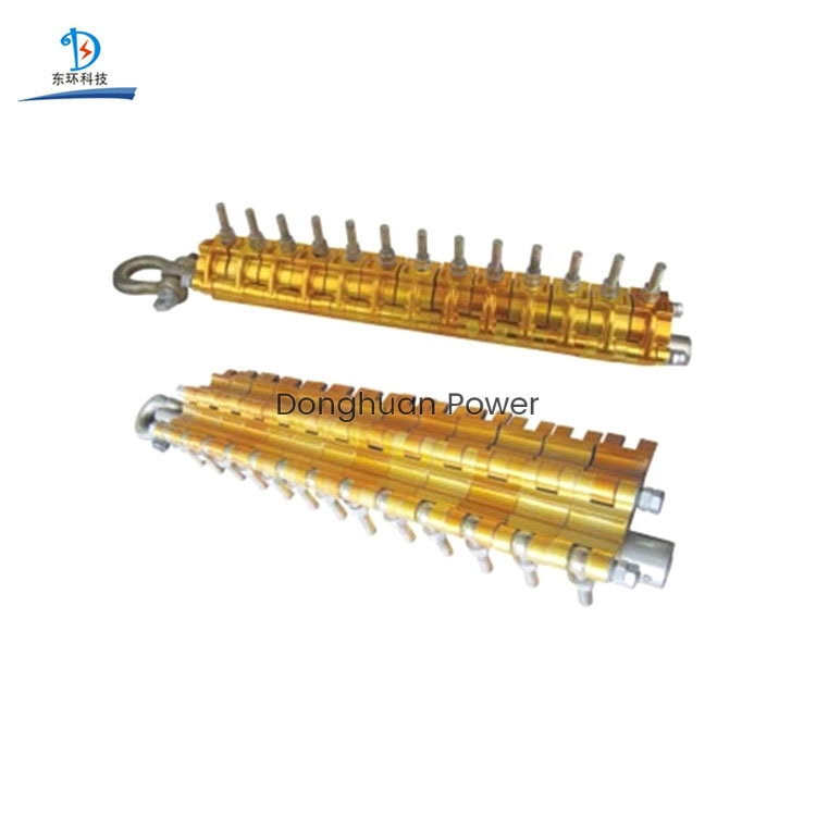 Fast Dispatch Come Along Clamp Conductor Gripper Multi-segment Type Aluminum Alloy Conductor Wire Gripper