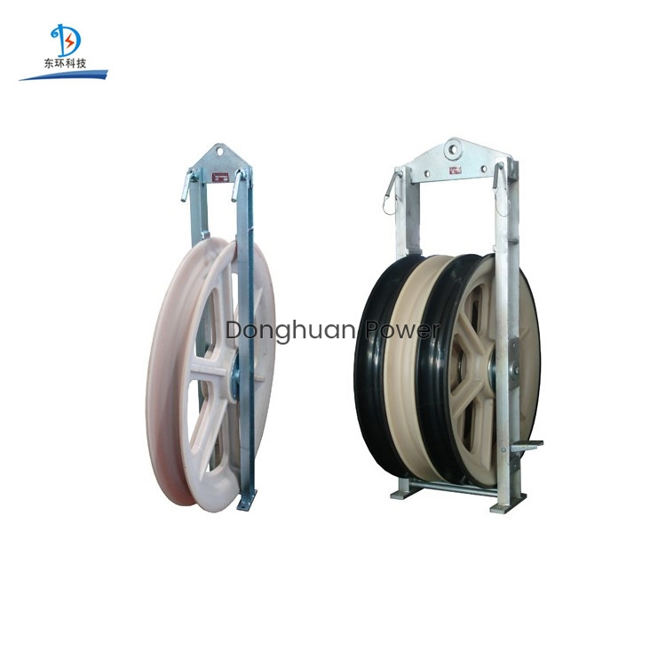 Customized Cable Pulley Block Nylon Sheave Pulley 1-3 Sheave 1160mm Diameter