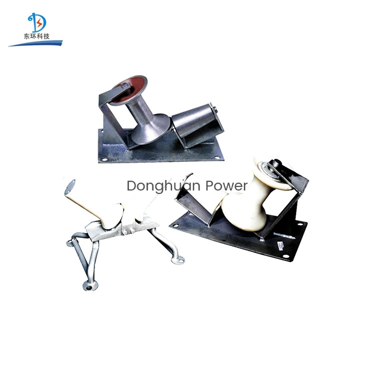 Donghuan Electrical Nylon or Aluminum Turning Cable Drum Roller