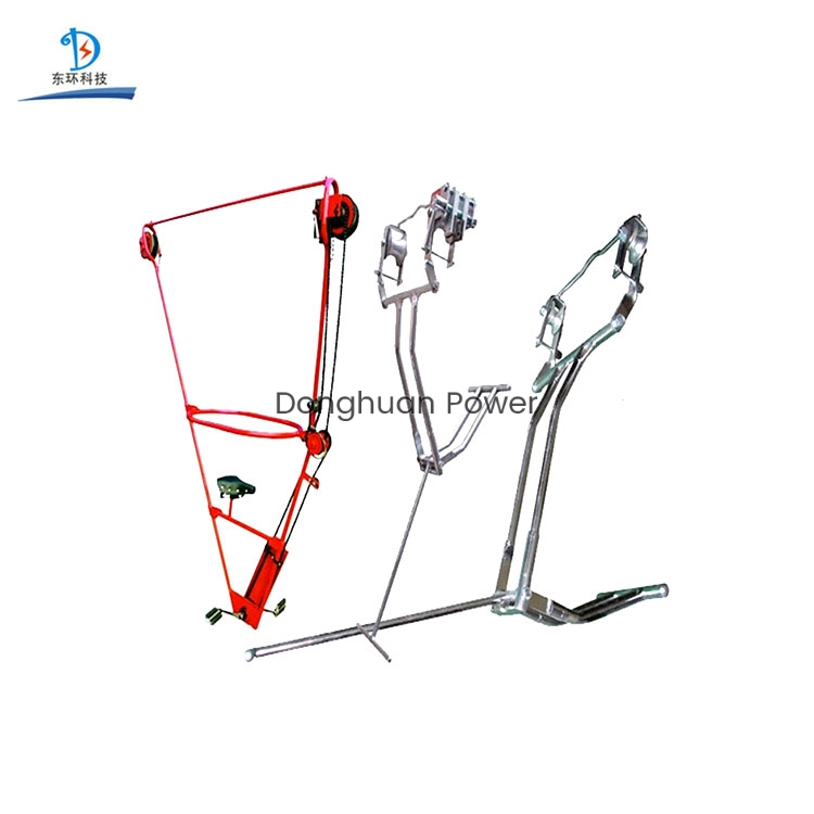 Electric Inspection Overhead Line Cart for Single Conductor Inspection Trolley
