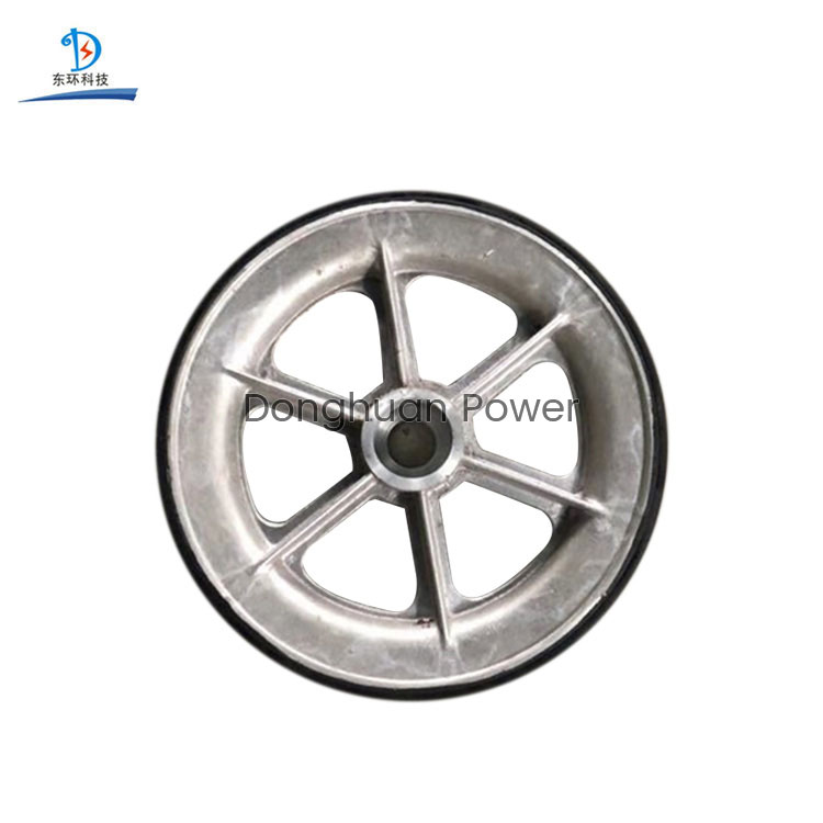 Durable Pulleys Plastic Pulley Sheaves Customized Size Aluminum Wheel Rubber Aluminum Sheaves