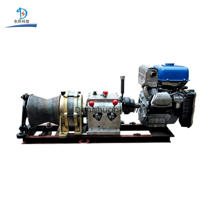 High speed Planetary Gearbox Tugger fast Power cable pulling Gasoline powered Winch