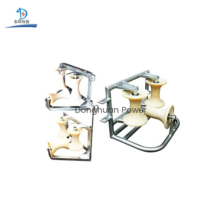 Nylon Aluminum Alloy Material Wheels Ground Block Guide Pulley Item Triple Sheaves Type Corner Cable Roller