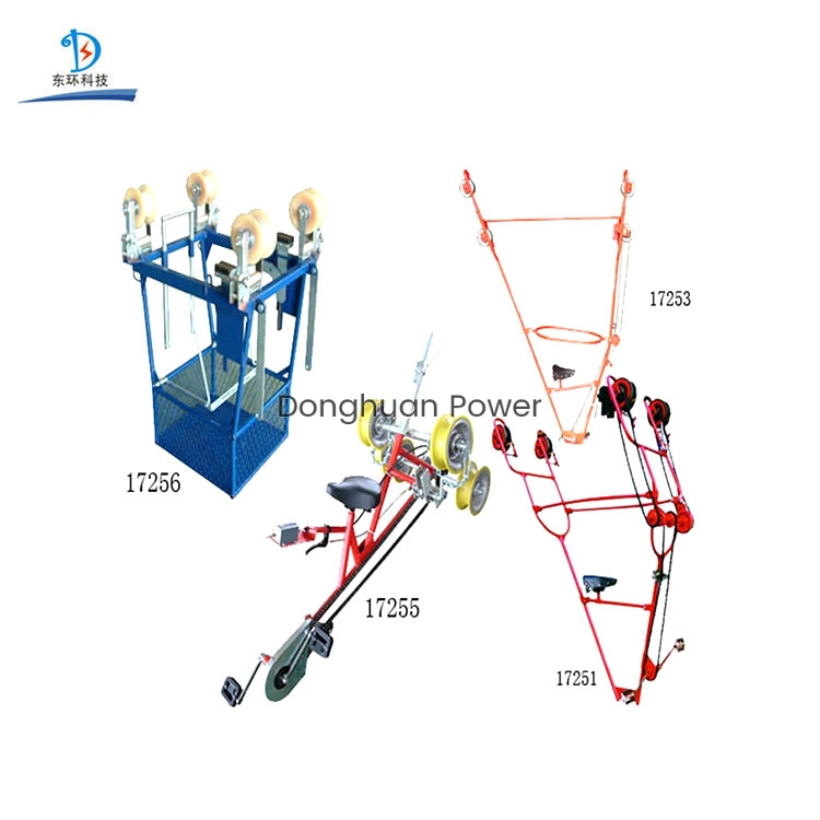 Overhead Lines Cart/bicycles for Two Bundle Conductor Inspection Trolley