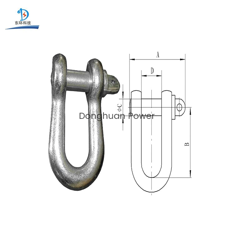 Safety Stringing Equipment for Connecting Link High Strength U Shackle