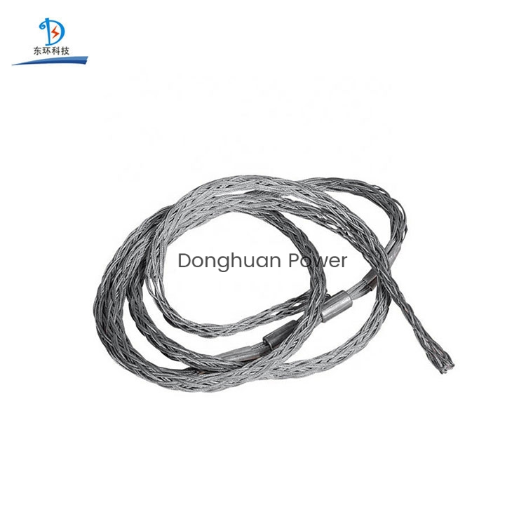 Wire Laying Construction Steel Cable Socks Wire Rope Pulling Grip Sock Wire Mesh Joints Conductor Mesh Socks Joint