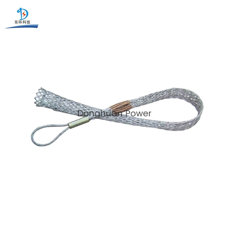 Wire Laying Construction Wire Rope Pulling Conductor Cable Mesh Socks Joint