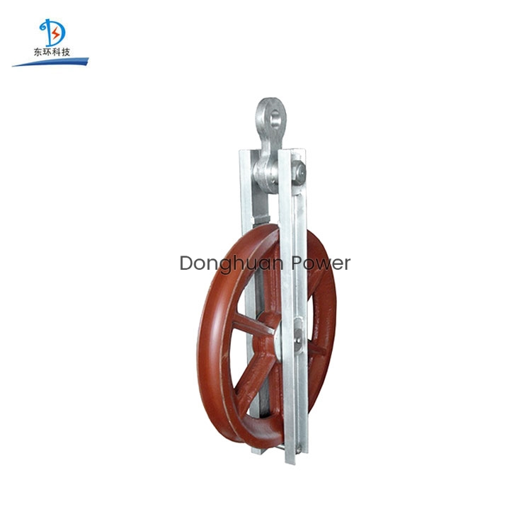 Wire Rope Cable String Pulley Block For Conductor High Speed Turning Block