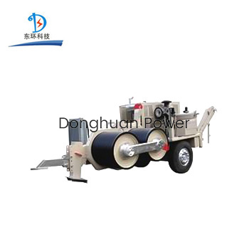 420KN Cable Release Pulling Hydraulic Puller With Power Engine for Transmission Construction Line