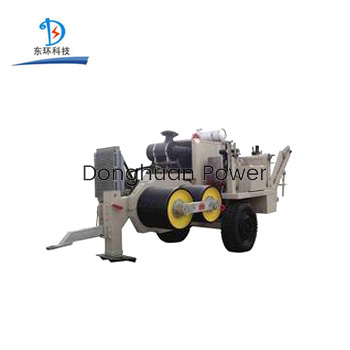 Hydraulic Puller Machine With Diesel Engine For Transmission Lines / Power Construction , SA-YQ220