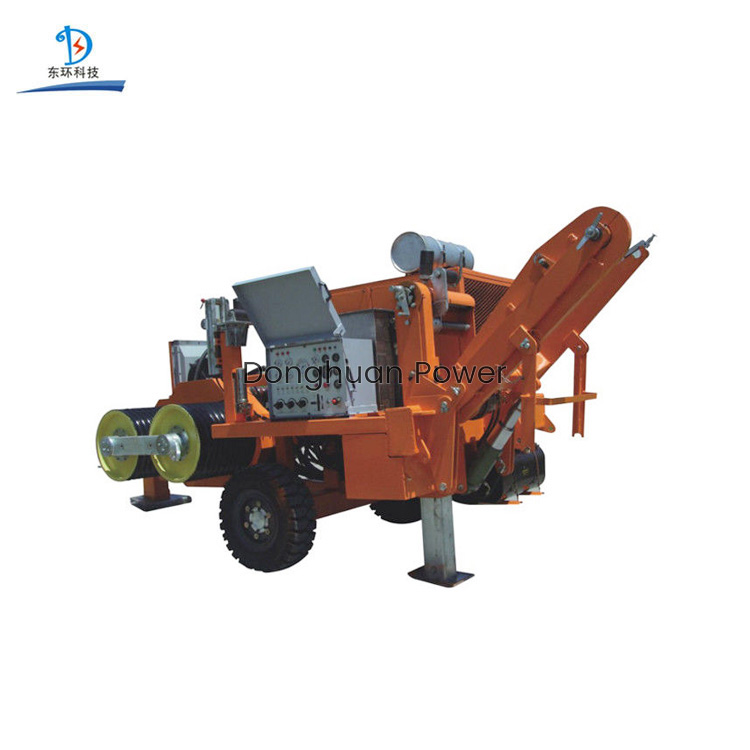 Durable 250KN Hydraulic Puller Tensioner For Four Bundled Conductor 9000kg Weight