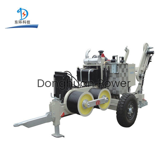 Electric Stringing Construction SA-YQ60 60KN Hydraulic Cable Puller With Diesel Engine