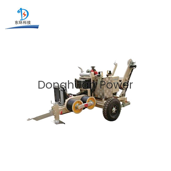 SA-YQ40 40KN Capacity Hydraulic Bull Wheel Tensioner Puller With 5 Grooves For Stringing Conductor