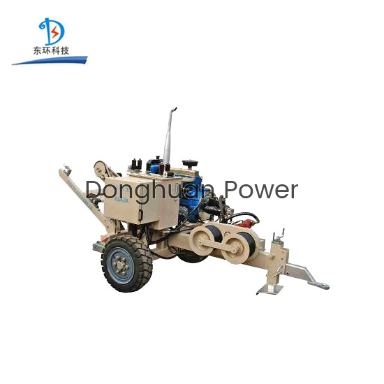 30KN Cable Puller Tensioner / Hydraulic Cable Puller With Diesel Engine For 220KV Transmission Line